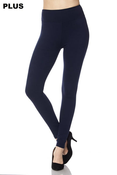 "Curvy Solid Ankle Leggings with 3"" waistband"