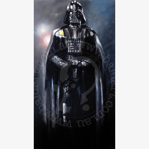 star wars jedi darth vader artwork by andy baker of bald art
