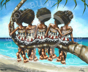 fijian artwork by andy baker of bald art