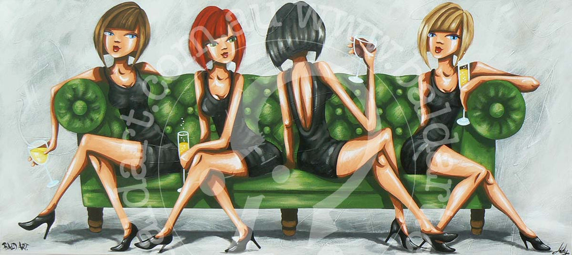 lounge art canvas print by andy baker of bald art