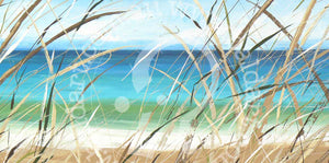 beach reeds artwork by andy baker of bald art