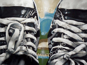 converse sneakers artwork limited edition by andy baker of bald art