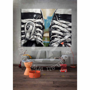 original converse sneaker artwork by andy baker of bald art