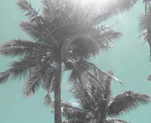 palm tree print artwork wall art by andy baker of bald art