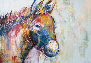 animal print wall art donkey by andy baker of bald art