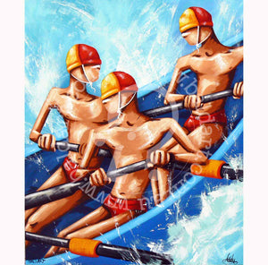 surf boat artwork canvas wall art by andy baker of bald art