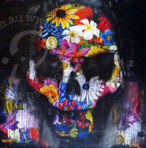 contemporary skull artwork by andy baker of bald art