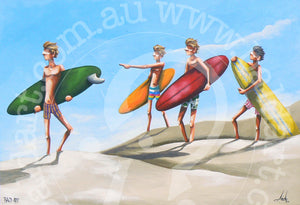 surf art by andy baker of bald art
