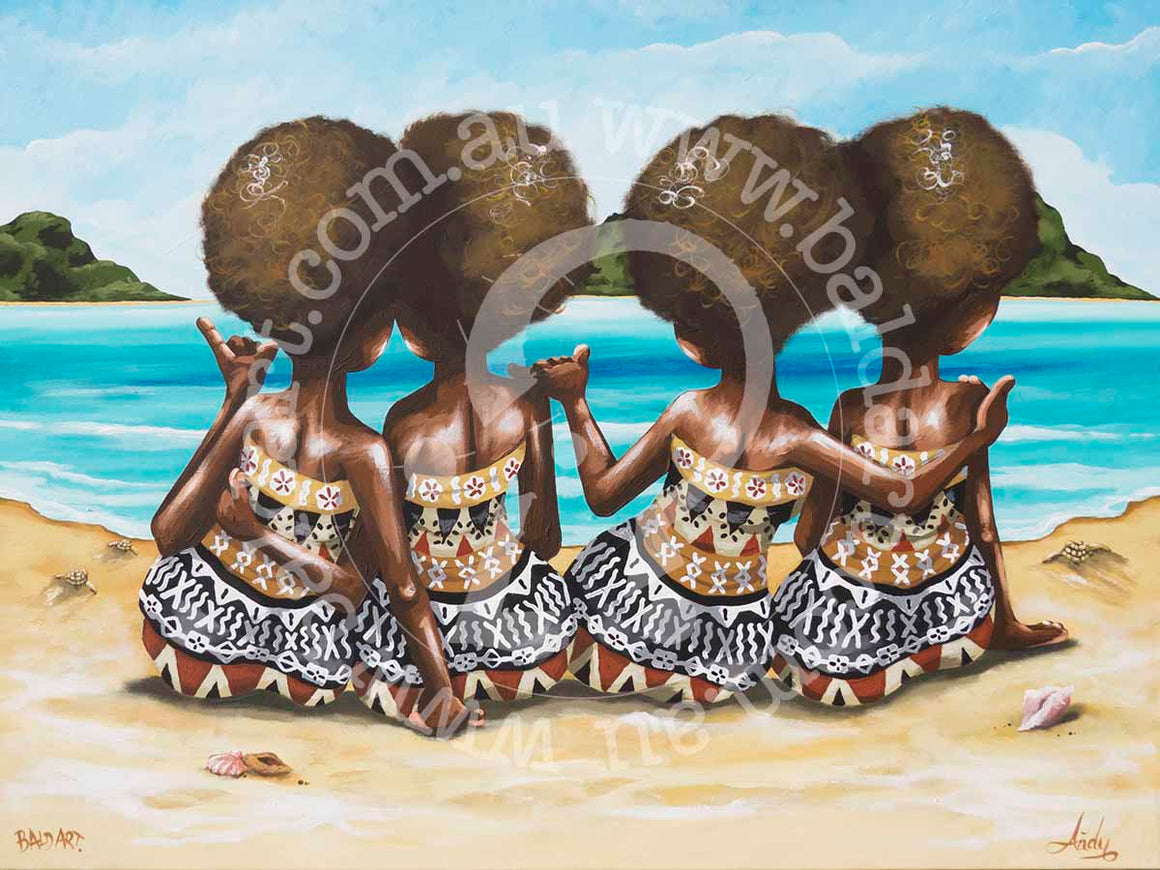 limited edition fijian canvas artwork by andy baker of the bald art company