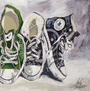 chuck taylor converse sneaker artwork by andy baker of bald art
