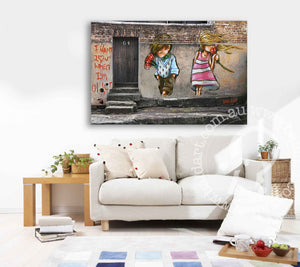 ready to hang street art canvas print by andy baker of bald art