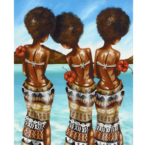 fijian artwork by andy baker of bald art limited edition canvas print