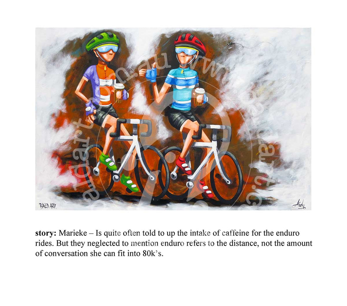 cycle series artwork with story by andy baker of bald art