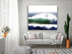 Wave artwork in ready to hang large canvas by andy baker of bald art