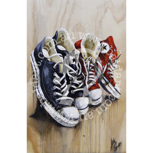 converse all star sneaker artwork by andy baker of bald art