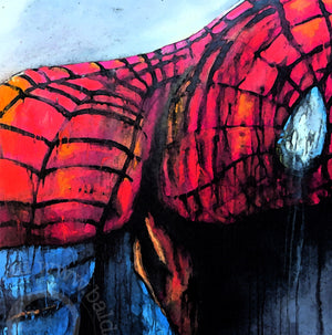 limited edition canvas print of spiderman