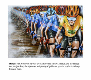 cycle series artwork limited edition print by andy baker of bald art