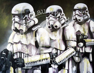 star wars stormtroopers artwork by andy baker of bald art