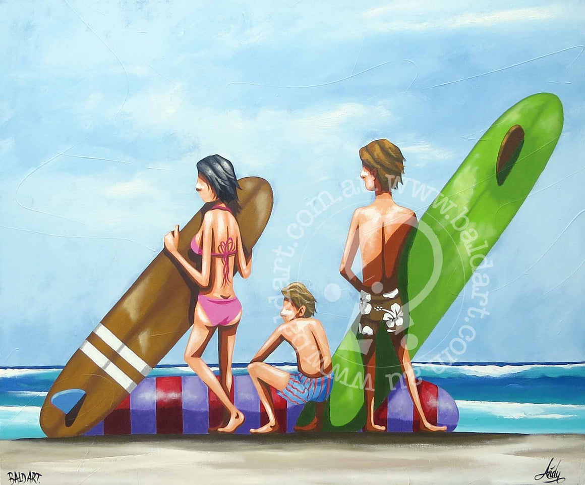 surf artwork by andy baker of bald art