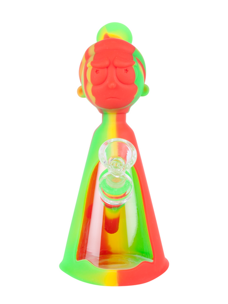 "8"" Silicone Morty Water Pipe (Assorted)"