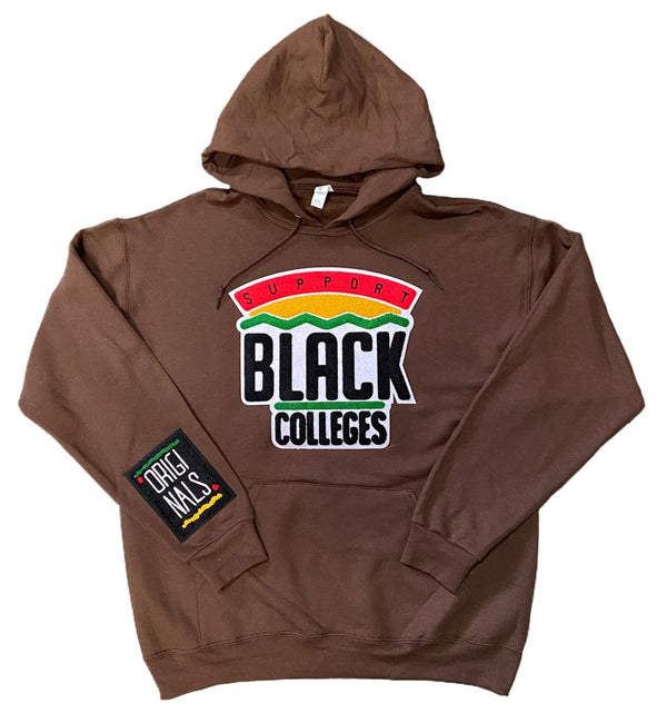 """Support Black College"" Hoodie ""Mocha"""