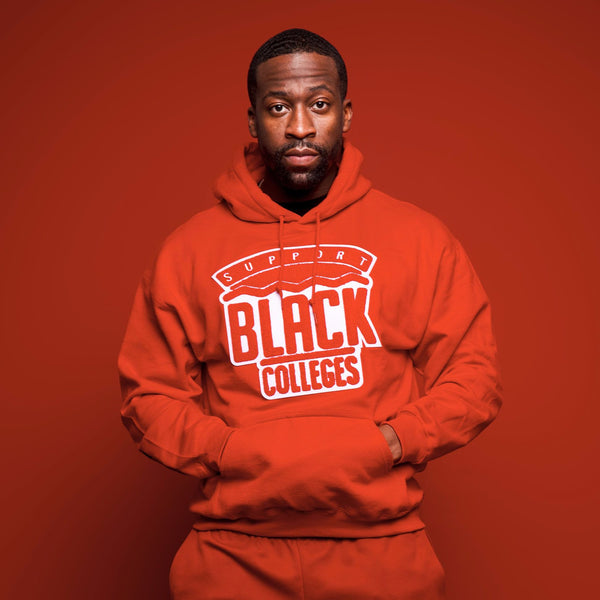 """Support Black College"" Monochrome Hoodie ""Cardinal"""