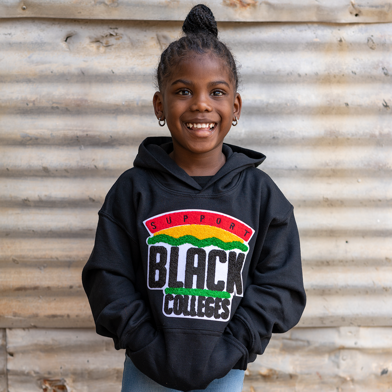 """Support Black College"" YOUTH Hoodie ""Black"""