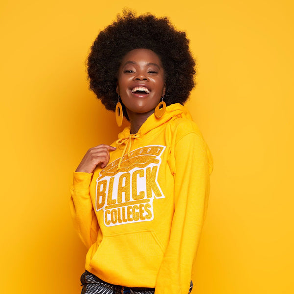 """Support Black College"" Monochrome Hoodie ""Honey"""