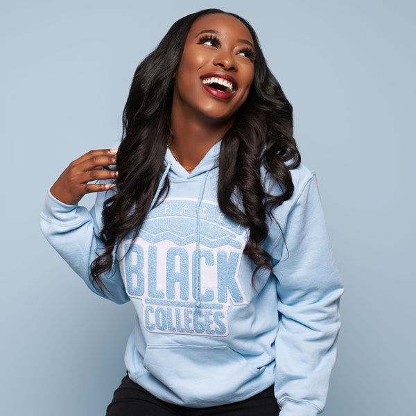 """Support Black College"" Monochrome Hoodie ""Powder"""