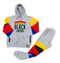 """Support Black Colleges"" Multi-colored Jumpsuit Hoodie ""Grey"""