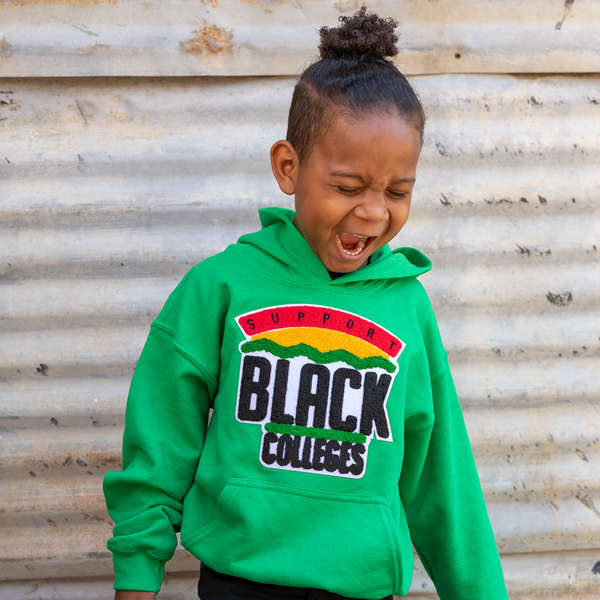 """Support Black College"" YOUTH Hoodie ""Kelly Green"""