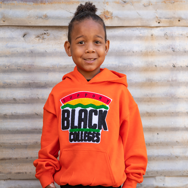 """Support Black College"" YOUTH Hoodie ""Orange"""