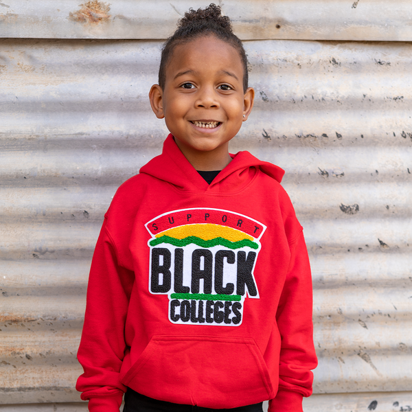 """Support Black College"" YOUTH Hoodie ""Red"""