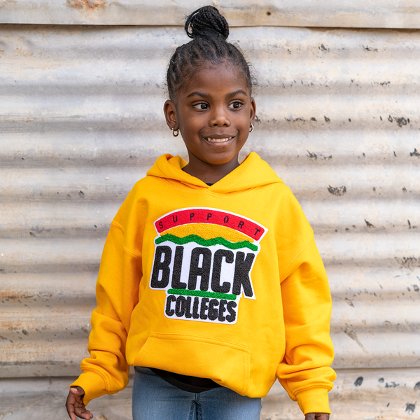 """Support Black College"" YOUTH Hoodie ""Gold"""