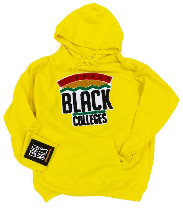 """Support Black College"" Hoodie ""Maize"""