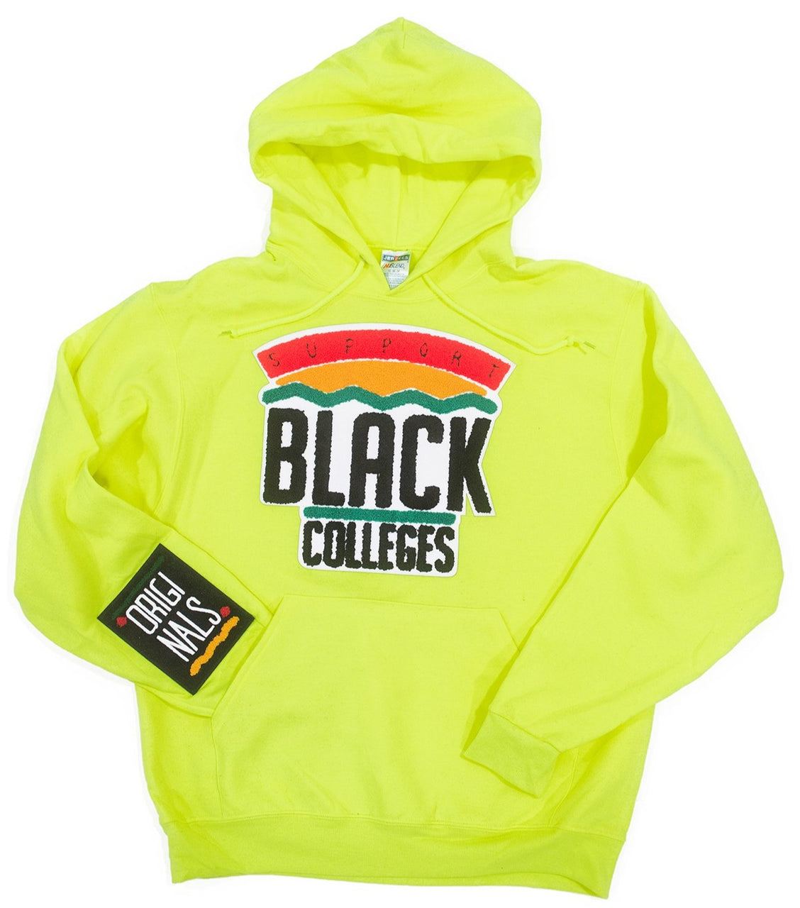 """Support Black College"" Hoodie ""Neon"""