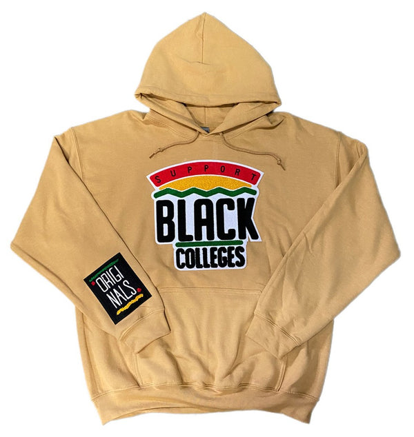 """Support Black College"" Hoodie ""Chestnut"""