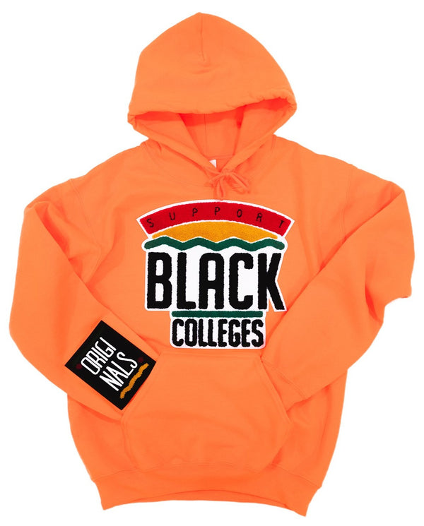 """Support Black College"" Hoodie ""Orange"""
