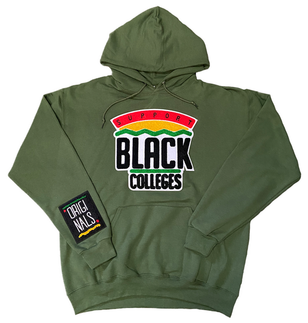 """Support Black College"" Hoodie ""Pine"""