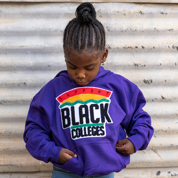 """Support Black College"" YOUTH Hoodie ""Purple"""