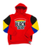 """Support Black Colleges"" Multi-colored Jumpsuit Hoodie ""Red"""