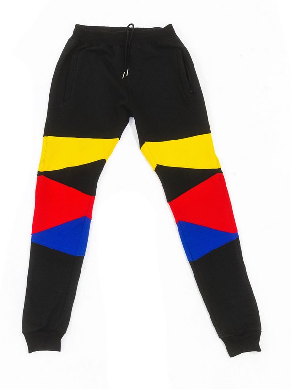 """Support Black Colleges"" Multi-colored Jumpsuit Sweatpants ""Black"""