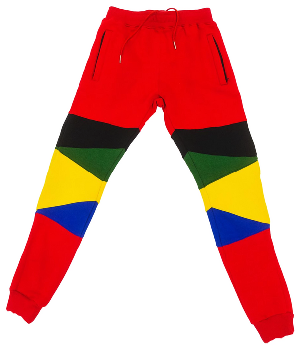"""Support Black Colleges"" Multi-colored Jumpsuit Sweatpants ""Red"""