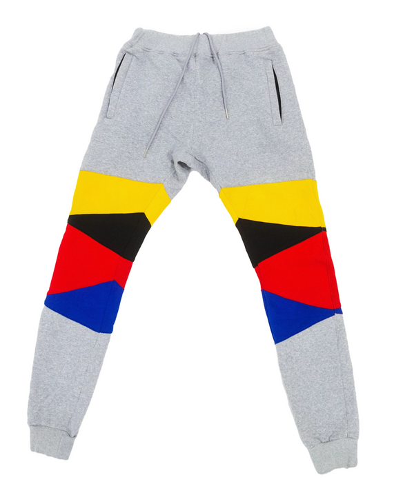 """Support Black Colleges"" Multi-colored Jumpsuit Sweatpants ""Grey"""