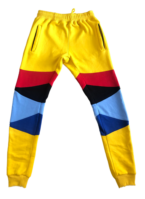 """Support Black Colleges"" Multi-colored Jumpsuit Sweatpants ""Yellow"""