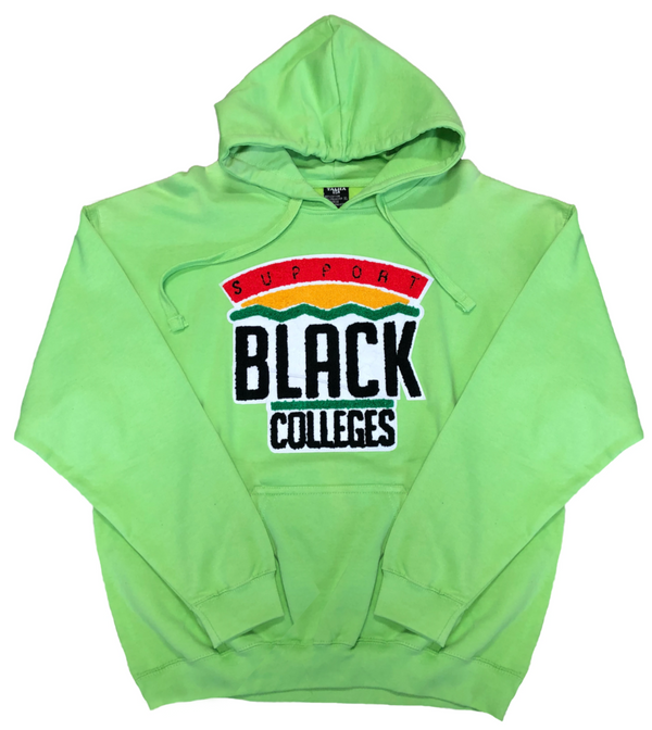 """Support Black College"" Hoodie ""Light Green"""