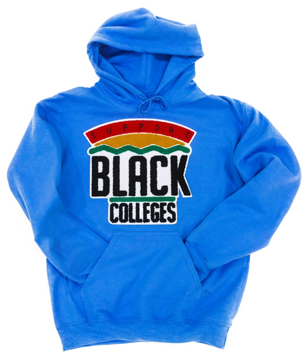 """Support Black College"" Hoodie ""Cobalt"""