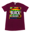 """SUPPORT BLACK COLLEGE"" SHORTSLEEVE IN MAROON"