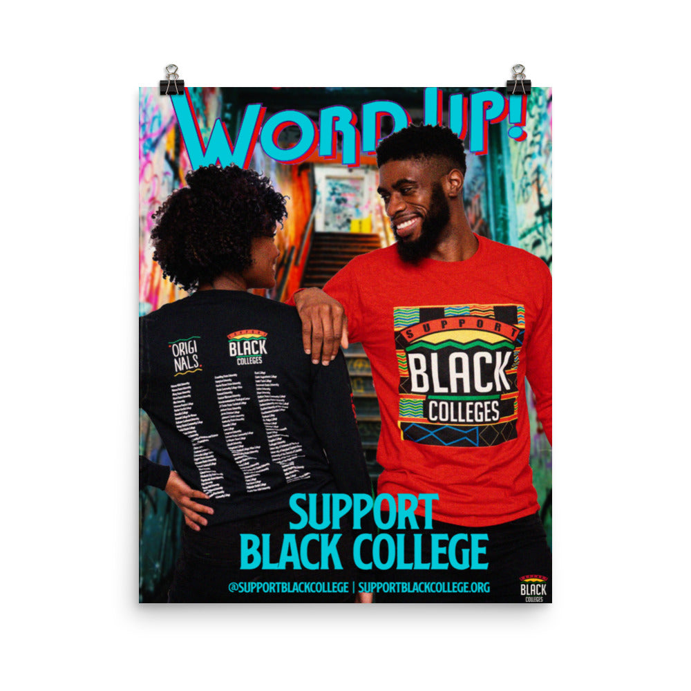"Support Black College ""Subway Love"" Poster"
