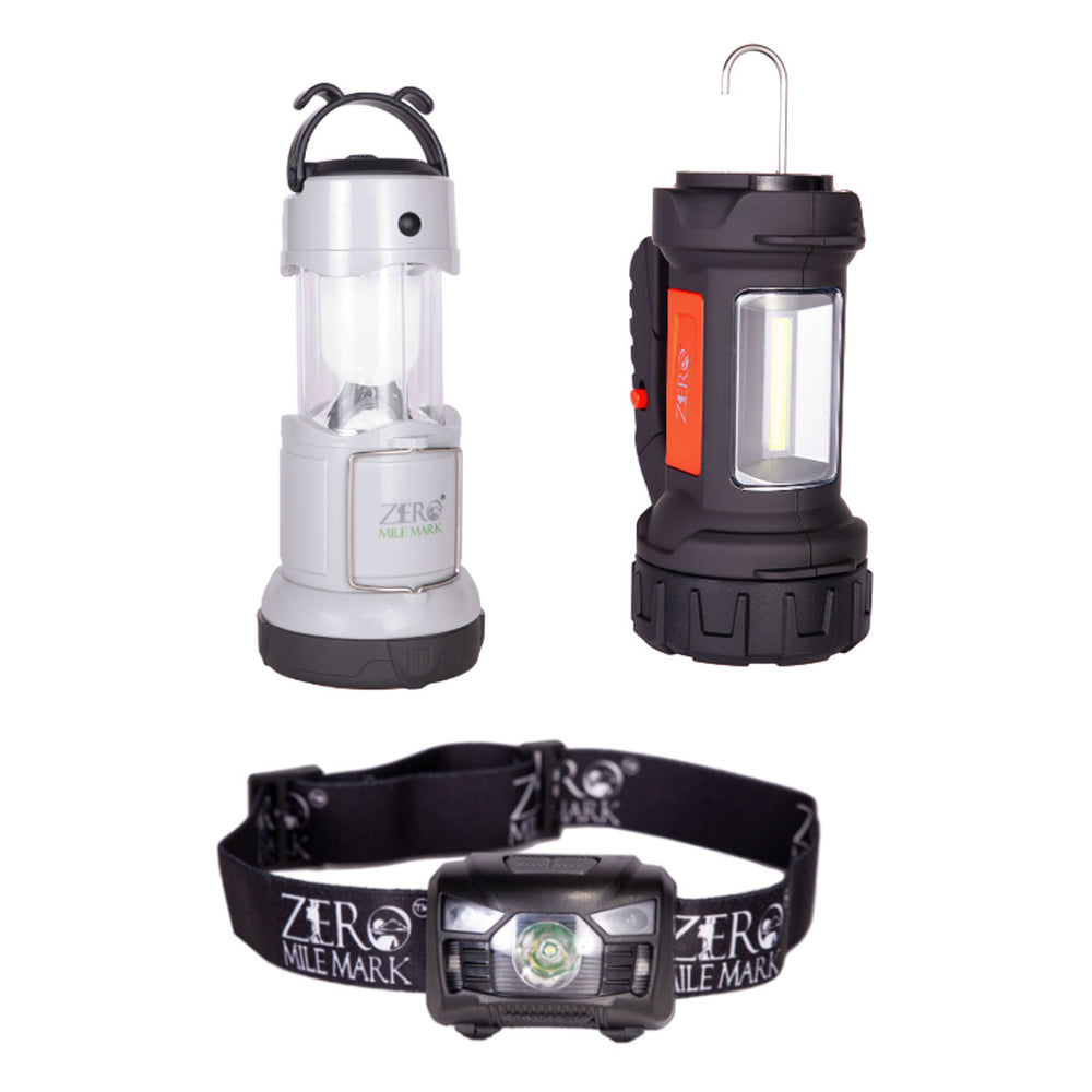 Lighting Bundle - Headlamp + Lantern + Spotlight All in One Pack (SAVE $20)